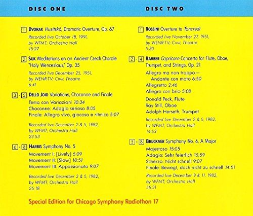 Chicago Symphony Orchestra From the Archives, Vol.7: A Tribute to Rafael Kubelik (1992)