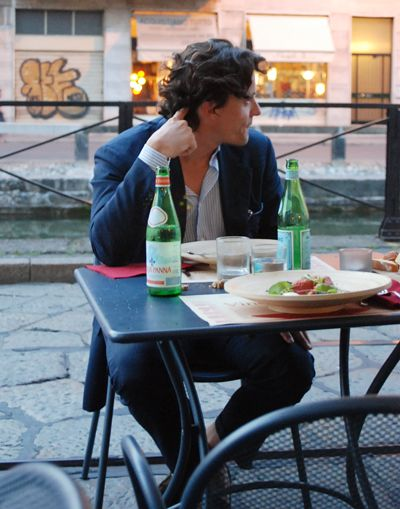 On the street in Italy....  ( hmmm... may I sit with you..lol )