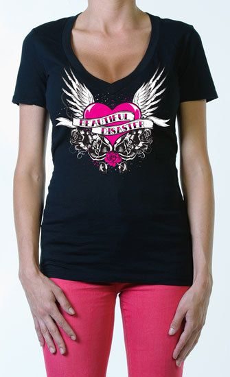 Tattooed Soul Womens V neck Tee|SubCulture Clothing Store