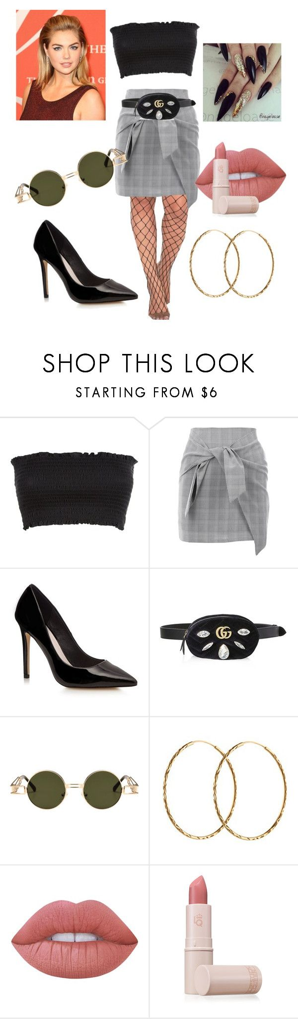 """""""#FiftyEight"""" by meganbarraza ❤ liked on Polyvore featuring Nasty Gal, Gucci, Pernille Corydon, Marc Jacobs, Lime Crime and Lipstick Queen"""