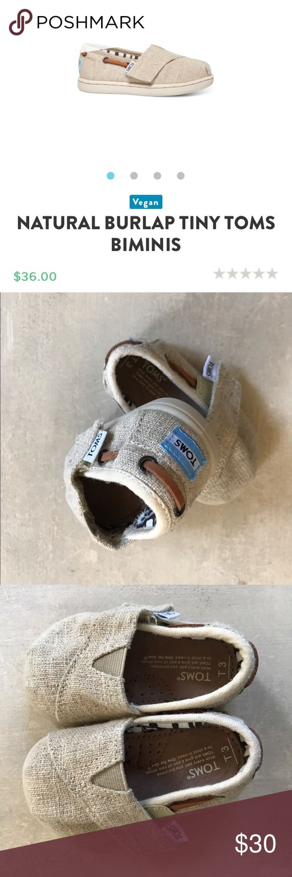 Baby toms Like new baby toms so so cute! Baby boy is to big to wear them! Perfect for you handsome little mans first Easter!!! TOMS Shoes Moccasins