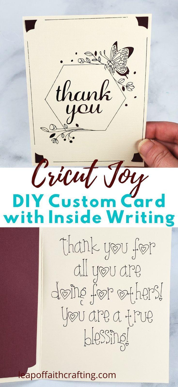 How To Make A Custom Cricut Joy Card Template Joy Cards Cricut Cards Cards