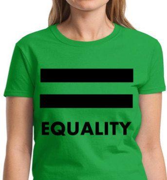 LGBT SHIRT Equality Pride  Irish Green T-shirt  by ALLGayTees