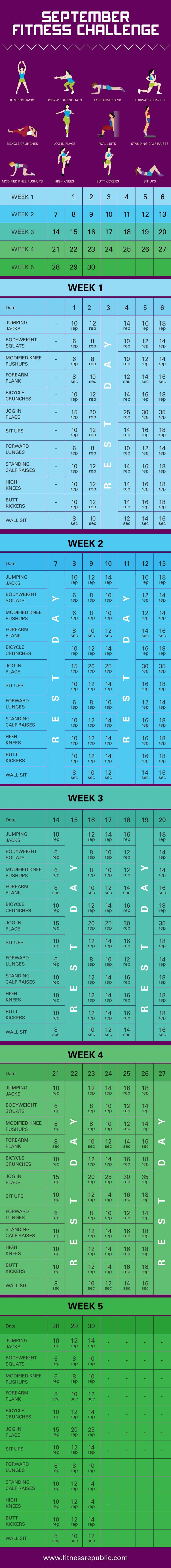 Who's up for a September #Fitness Challenge? Tag a friend & join...30 Days