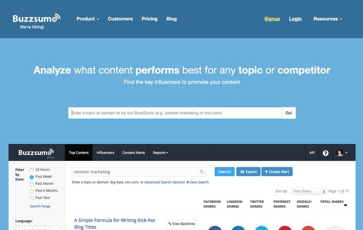 BuzzSumo is a great tool if you are targeting any audience very directly. It shows you the most shared pieces of content for a given topic and a given time-frame. It will also show you which social networks and platforms you'll want to target based on your type of industry and interests.