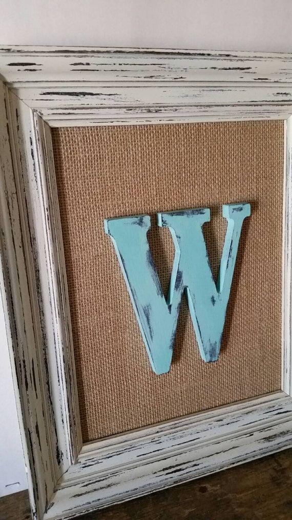 Baby Boy Nursery Decor Framed Letters Rustic by SeaLoveAndSalt