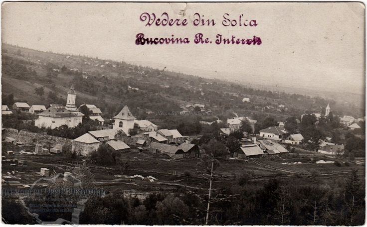 Suceava. Plasa Arbore. Oraul Solca. Vedere generală. Fabrica de cherestea. 1923