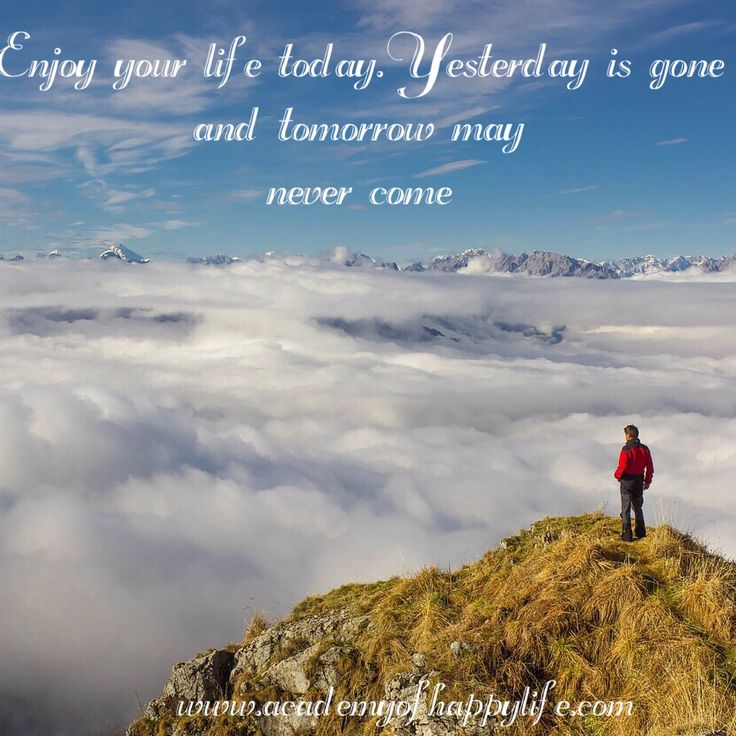 You never know what is waiting for you tomorrow! Do your best! Enjoy your life! Feel it! Every day brings new opportunities, don't waste them, use them! Everything will be great and sunny ☀✨ You can find more interesting thoughts on our website: www.academyofhappylife.com