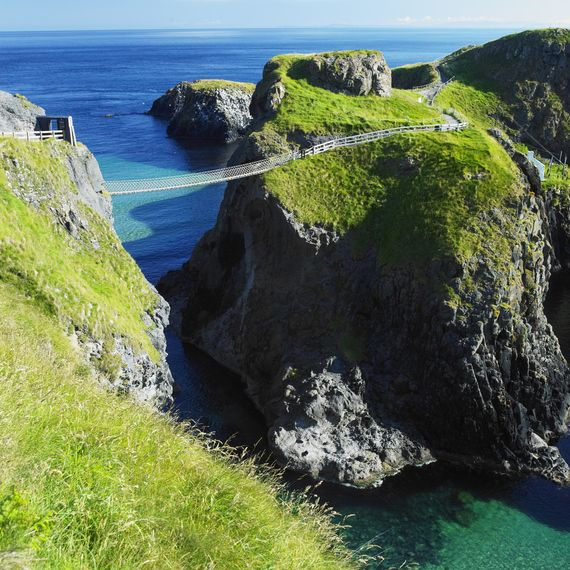 Carrick-a-Rede Rope Bridge. Secret Ireland destinations that are breathtaking | IrishCentral.com