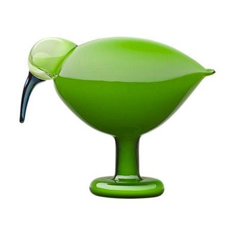 Iittala Green Ibis Dekoratif Cam Kuş