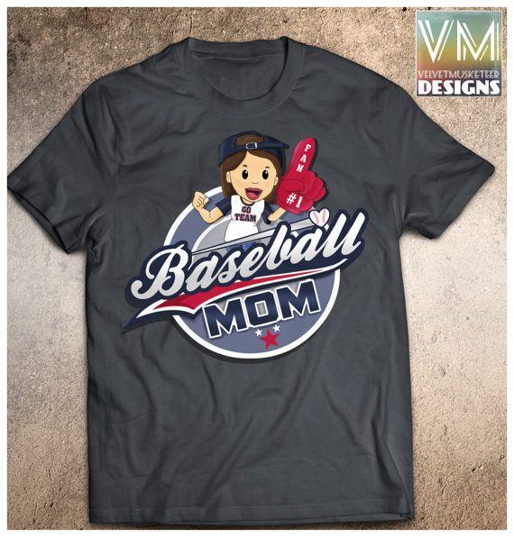 Baseball Gameday Shirt/ Baseball Mom Shirt/ by Velvetmusketeer