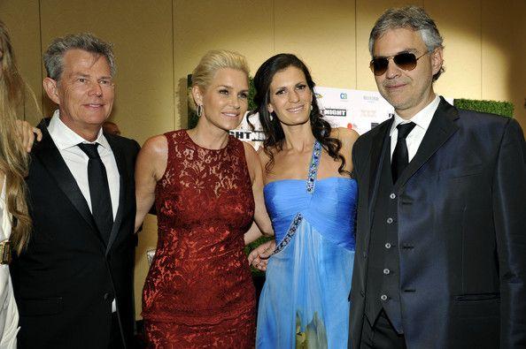 Andrea Bocelli and Veronica Berti Photos - Celebrity Fight Night XIX - Inside - Zimbio