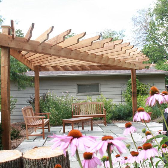 Triangular Pergola Hawks Landscape Project In 2019