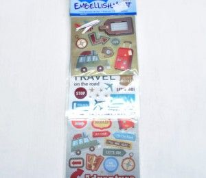Adventure Sticker Embellishments on sale for R75.50  | Paradise Creative Crafts cc