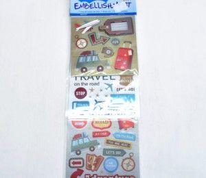Adventure Sticker Embellishments on sale for R75.50  | Paradise Creative Crafts cc