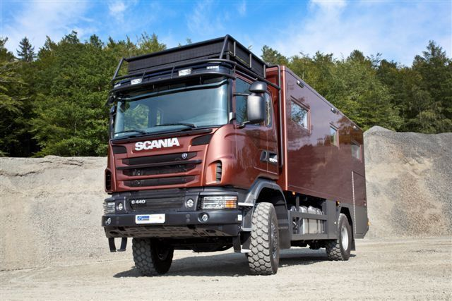 Expeditionsmobil Reisemobil Scania Allrad wie Action Mobil