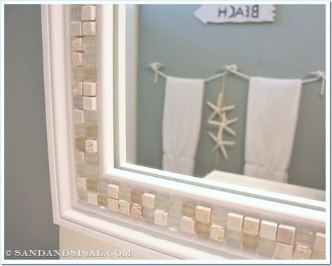 Best 25 Tile Mirror Frames Ideas On Pinterest Tile Mirror Tile Around Mirror And Lowes Mirrors