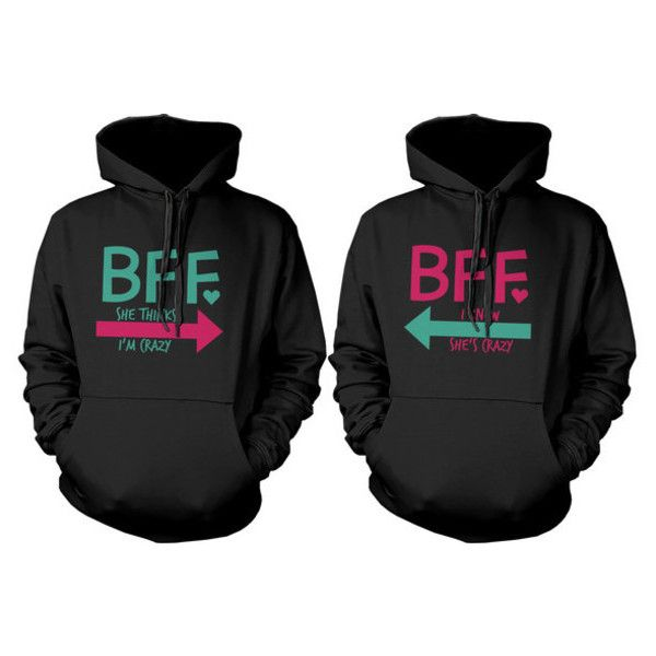 Sweater: bffhoodies bff matching hoodies best friends hoodies best... ❤ liked on Polyvore