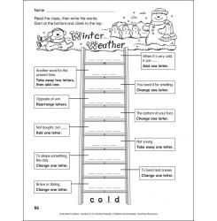 scholastic teacher express winter weather word ladder grades 2 3 teaching stuff. Black Bedroom Furniture Sets. Home Design Ideas