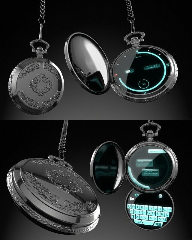 Digital Pocket Watch. I don't know if this exists. If it does, I need one