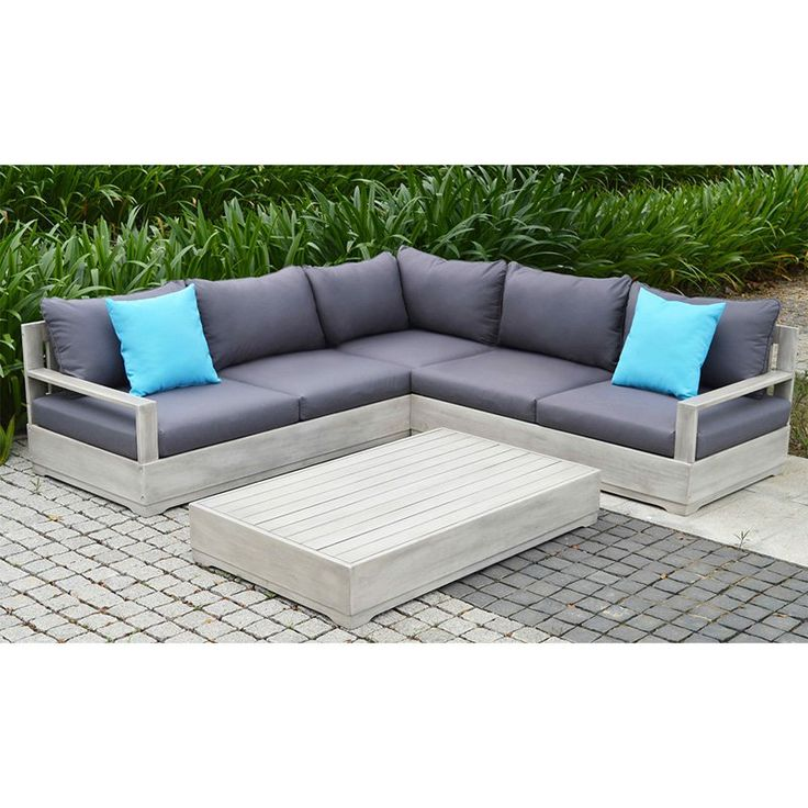 Ove Decors Beranda 3-Piece Outdoor Sectional Patio Set - BERANDA