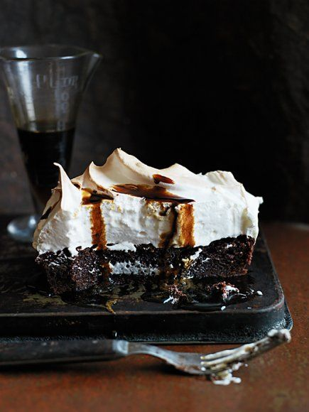 coffee meringue brownies.  Chris Court Photography for Donna Hay Magazine