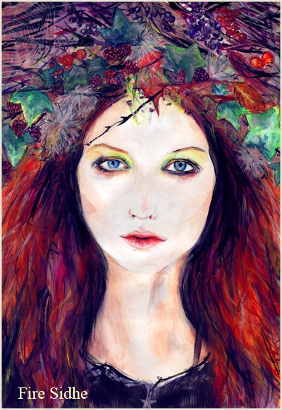 Autumn Queen by Laura Daligan is an Artist and Illustrator with a passion for myth, magick and all things rouge.