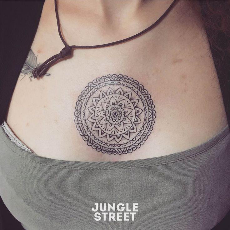 Mandala chest tattoo #junglestreet