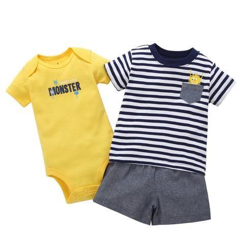 59d355d3d 2018 Newborn Toddler Baby Boy Clothes 2018 Summer Casual Short ...