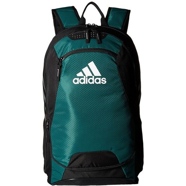 adidas Stadium II Backpack (Collegiate Green) Backpack Bags (200 BRL) ❤ liked on Polyvore featuring bags, backpacks, adidas bag, blue bag, day pack backpack, zip backpack and blue backpack