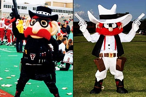 Raider Red may have changed his look over the years, but he's always kept his guns up. Vote for this @Tracy Dub Tech Athletics legend on www.capitalonebowl.com or tweet #CapitalOneRaiderRed.