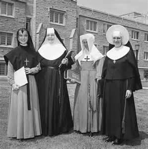 Catholic Nuns of different Orders before the late 1960's