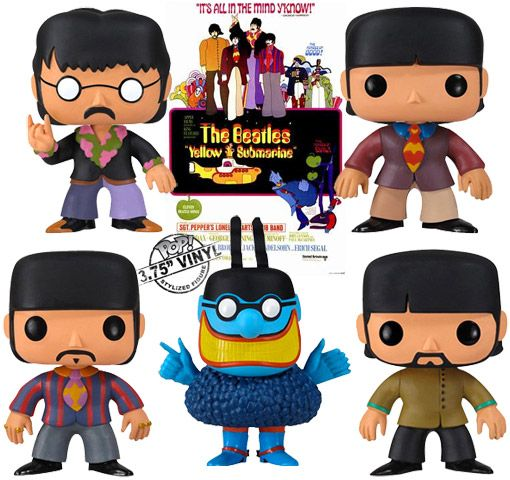 Beatles Yellow Submarine's Bobble Heads! I Want it!