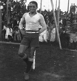 CD Nacional of Uruguay goalkeeper Andres Mazali in 1927.