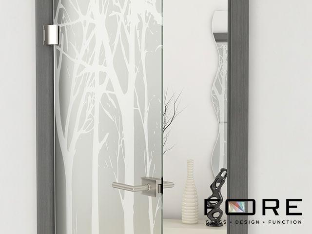 Zbliżenie na wzór Tree 03,www.fore-glass.com, #drzwi #drzwiszklane #drzwiwewnetrzne #szklane #glassdoor #glassdoors #interiordoor #glass #fore #foreglass #wnetrza #architektura