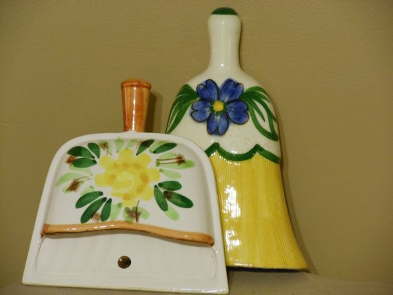 Broom and Dustpan Wall Pockets by RandysGallery on Etsy
