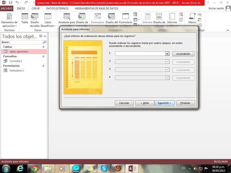 Access: tablas, formularios, consultas, informes