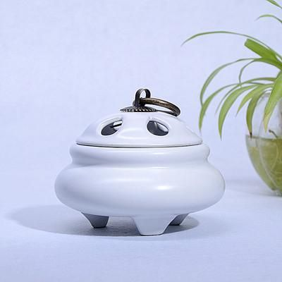 Ceramic Incense Burner with Copper Cover for yoga Aromatherapy Decoration
