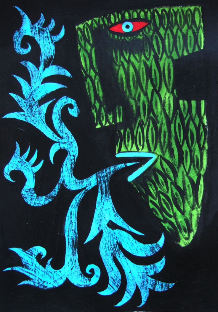 Clive Hicks Jenkins: Green Man design done in preparation for Marly Youman's The Foliate Head.