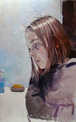 """Christos Tsimaris """"Sophia"""", oil"""