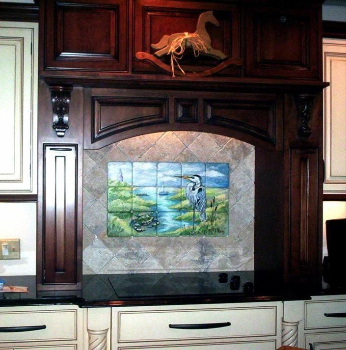 U201cNeutralizeu201d Your Kitchen With Neutral Backsplash Ceramics: Kitchen  Backsplash Mural On Tumbled Marble. Getrommelt  MarmorfliesenMarmorfliesenFliesen Für Die ...