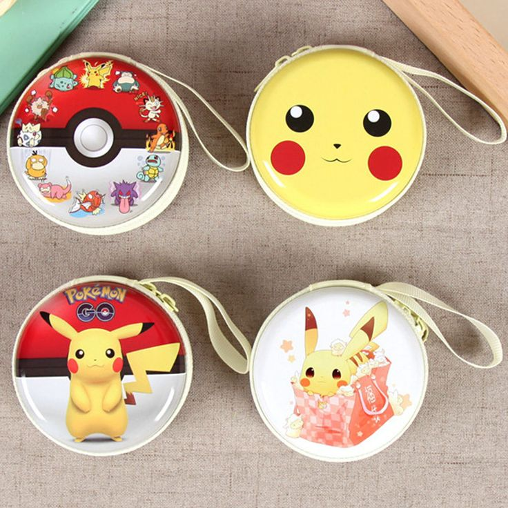 Pokemon Go Pikachu Earphone Bag Headphone Carrying Bag toy coin Pouch Case new
