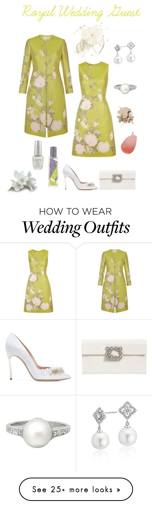 """Royal Wedding Guest"" by marnie1979 on Polyvore featuring Roger Vivier, Casadei, Blue Nile, Tiffany & Co., OPI, Jo Malone and Bobbi Brown Cosmetics"