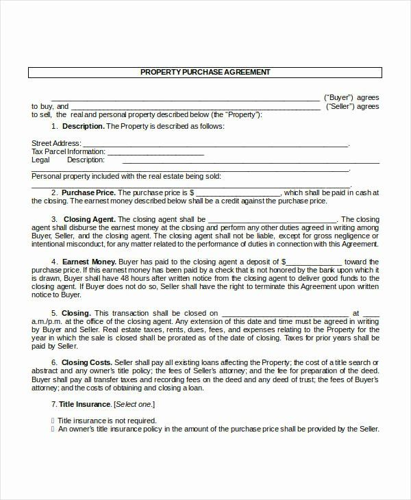 House Buying Contract Template In 2020 Contract Template