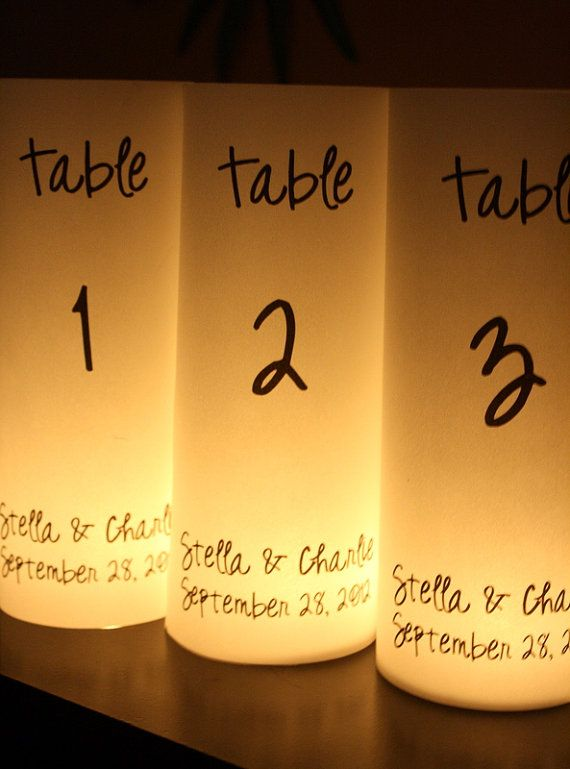 Table Numbers  Luminaries  Unique & Beautiful by thepaperynook, $2.50
