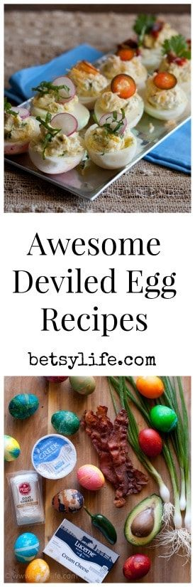 Take a classic party food the next level with these incredible flavor combinations. Jalapeño popper. Bacon, Sriracha, Avocado. Goat cheese and herb. It will be hard to decide which of the three is the best deviled eggs recipe. Never bring a boring deviled egg tray to a party again. #deviledeggs #partyfood #bestappetizer