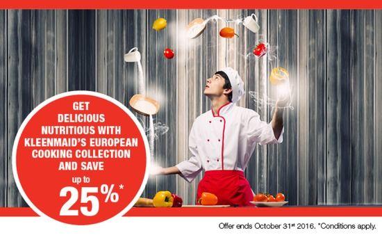 Kleenmaid BIG SAVINGS on NEW European Kitchen Appliances with a 3-Year warranty Buy 2 and save 10%*  - PR10  Buy 3 and save 15%*  - PR15  Buy 4 and save 20%*  - PR10  Buy 5 or more and save 25%*  - PR10  - http://prestigeapplianceschatswood.com.au/page53.aspx