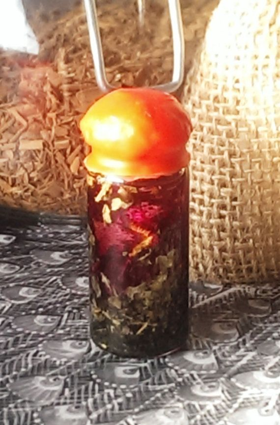 Authentic Wiccan Potion - Spell Bottle - Hand Crafted - Light Magick - Goddess Enhancing - Wicca on the Go! - Rose Infusion - Hand Crafted - Unlock Your True Beauty from Within - Find Love - Organic Herbs - Essential Oils