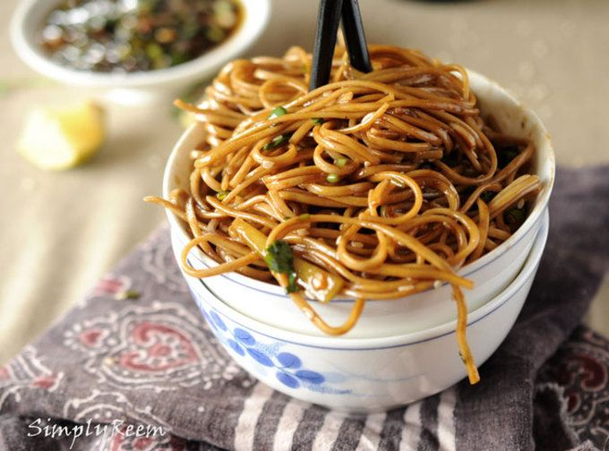 Yum... I'd Pinch That! | Soba Noodles with Sweet Ginger Scallion Sauce