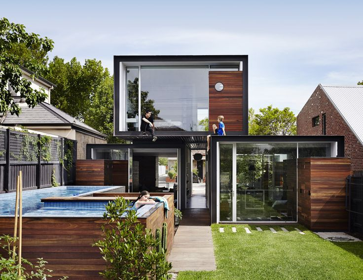 THAT House, passive solar gain, solar power, modest sized house, Austin Maynard Architects, Andrew Maynard Architects, broken plan layout, upward blinds, passive ventilation, rainwater collection, suburban sprawl, Australia, Australian architecture, Melbourne,